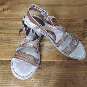 B.o.c. brown braided strap sandals